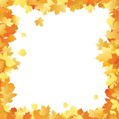 Fall Borders Clip Art | Autumn leaves frame in different ...