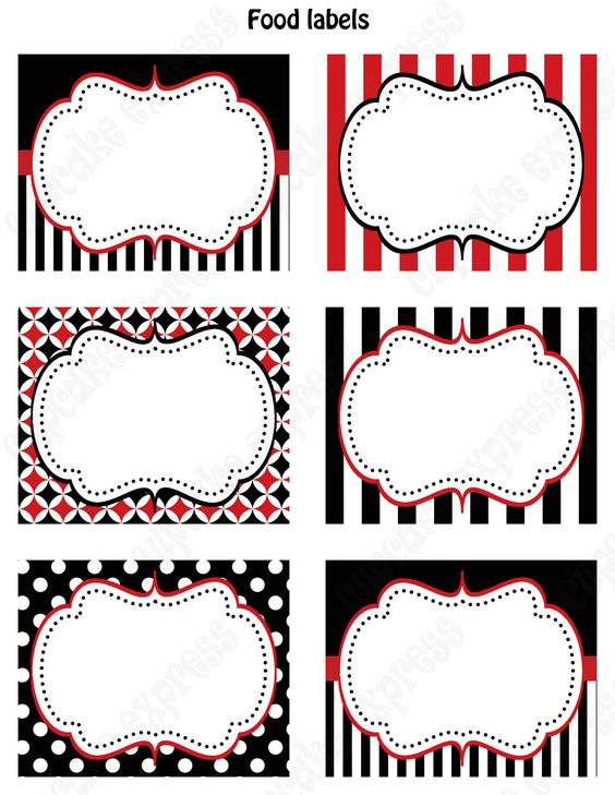 Pirate Birthday Party PRINTABLE Food Labels par CupcakeExpress