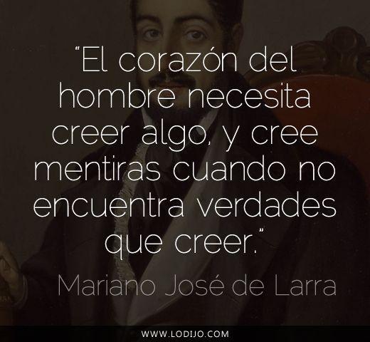 Mariano José De Larra Corazones Verdades Frases Del Alma