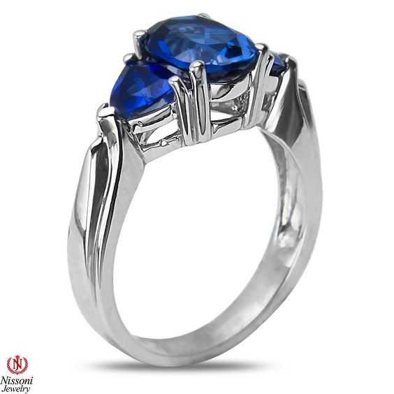 Ebay NissoniJewelry presents - Created Sapphire 3 Stone Fashion Ring in Sterling Silver 925    Model Number:FR7949-SICSA    http://www.ebay.com/itm/Created-Sapphire-3-Stone-Fashion-Ring-in-Sterling-Silver-925/221877919673