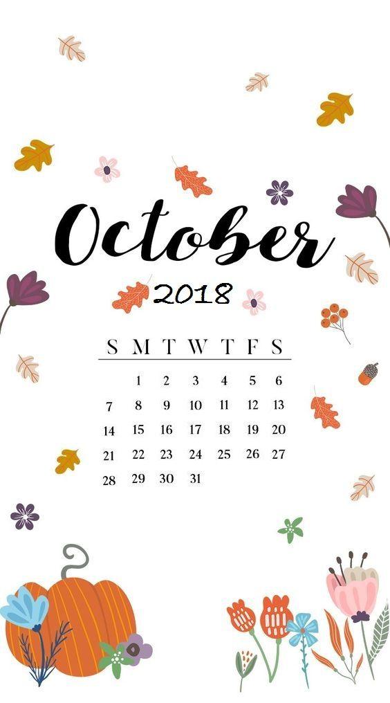 October 2018 Iphone Calendar Wallpaper Calendar 2018 Iphone