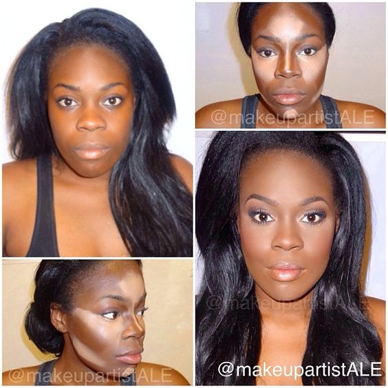 highlight/contour on dark skin... where was this during my makeup unit?!