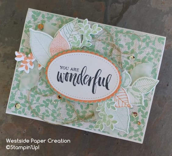 Stampin' Up! rooted in nature, Natures Poem Designer Series Paper