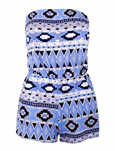 Tadcaster Wholesaler Foil Print Boob Tube Style Playsuit   #enjoythesale #fashionwholesaler #londonfashion