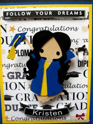 Creations by Patti: Blue and Gold Graduation Inside Step Card