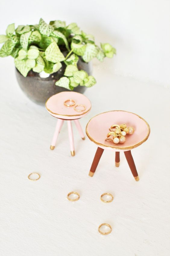 DIY Trinket Dish made with air-dry clay: