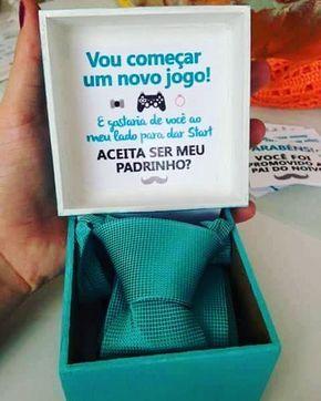 Caixa para convite de padrinho de casamento
