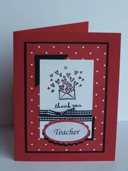 Red Teacher card