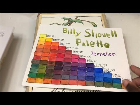 Billy Showell Palette And Books Reviewed Paint Set Botanical