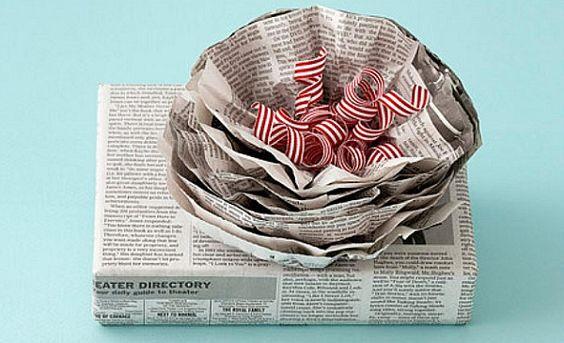Emballage cadeau original en papier journal