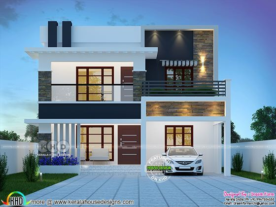4 Bedroom 2333 Sq Ft Modern Home Design Kerala Home Design Bungalow House Design Architect Design House House Roof Design Contemporary house kerala 2020