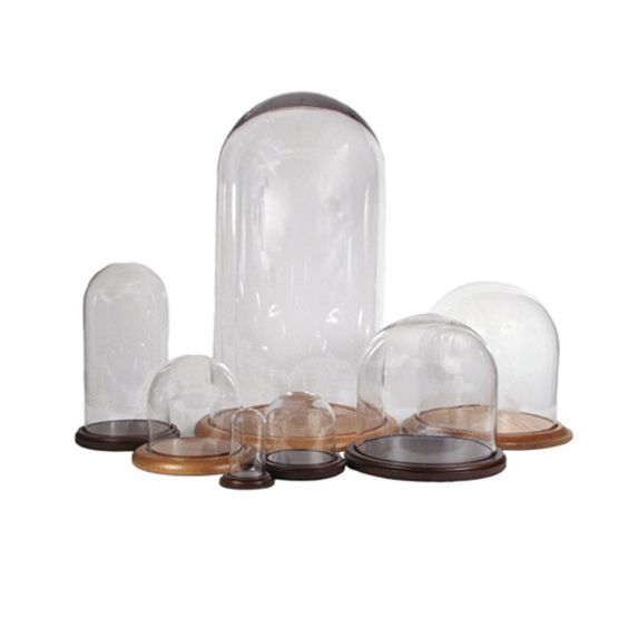 a great resource for glass domes for treasured items . . . in my case, SANTAS . . .