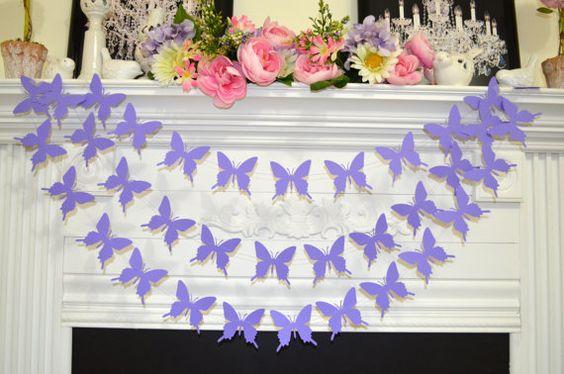 Schmetterling Garland Lavendel/lila von DCBannerDesigns auf Etsy