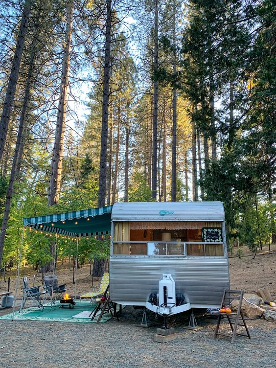Bring your vintage trailer and camp at the Inn Town Campground.