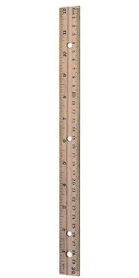 Charles Leonard Inc. Ruler, 12 Inch, Wood, 36 rulers (77120)