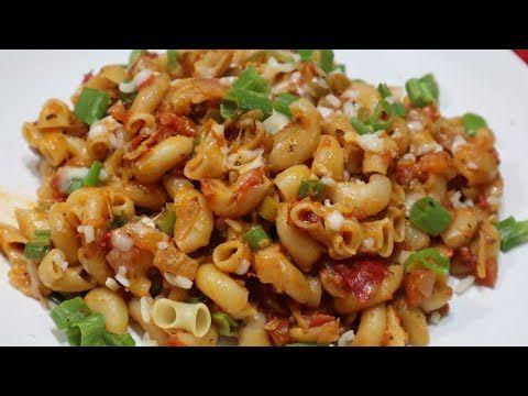 Indian Style Macaroni Pasta Recipe Macaroni Recipe Pasta Recipes Latest Recipes 2019 Youtub Veg Dinner Recipes Spicy Recipes Vegetarian Pasta Recipes