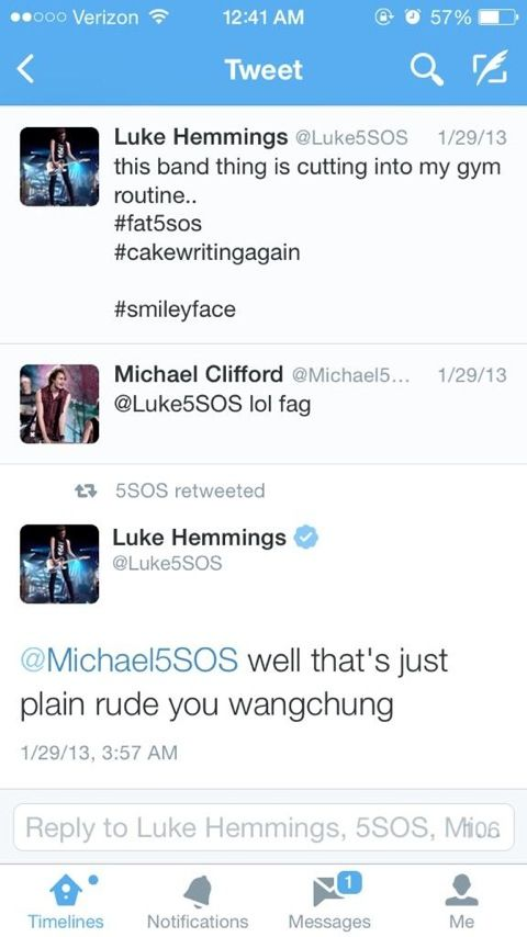 Only Luke Hemmings uses Wangchung. what does that even mean? Probably something only Luke knows