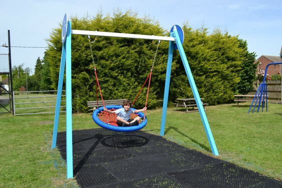 The Wave Nest Swing - roomy enough for a parent or carer to swing with a child.
