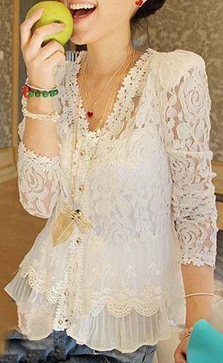 Surprisingly Cute Lace Blouses