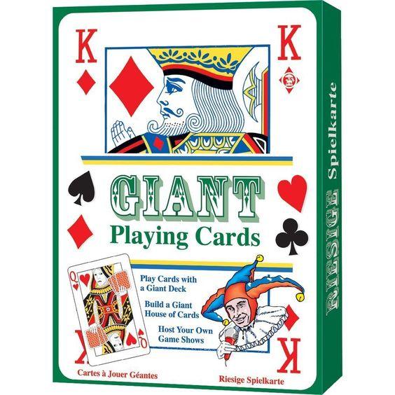 XL Kartenspiel / Spielkarten im Großformat von 20 x 28 cm 52er