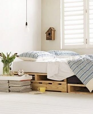 Recycle pallets to make a bed! It's the comfiest bed I've slept on.