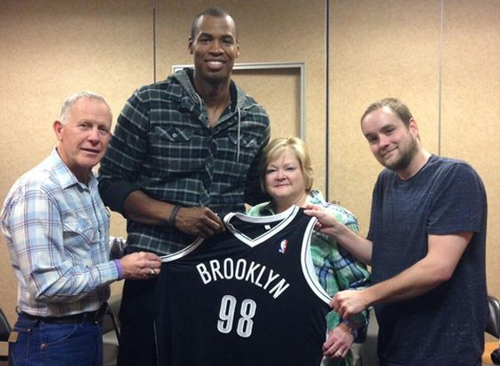 Jason Collins meets the Shepard family