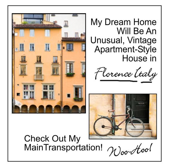 This time I'm living in a vintage apartment style house - in Florence, Italy, that is!  Every nook and cranny around my vintage Florence home is unbelievably beautiful symbols of Italian & European culture. I can simply pedal my bicycle & pass right into European Renaissance by riding the Ring of the Renaissance, which overlooks Florence and borders along the Valdarno & the Valdisieve. This bike ride delightfully combines the elegance of the country's nature with its amazing art & history.