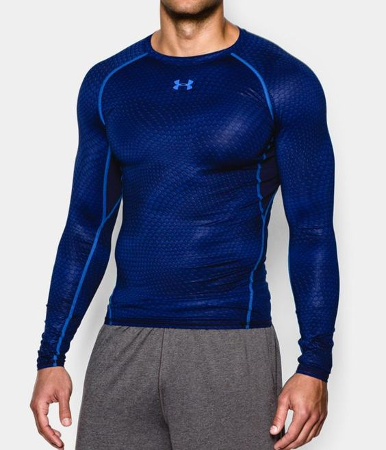 Ua heatgear armour printed compression men s soccer long for Printed under armour shirts