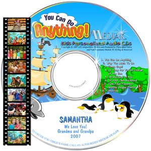 A motivational DVD with upbeat music, skillful animation and a positive message emphasizing imagination and determination. The child's name is used 106 times.
