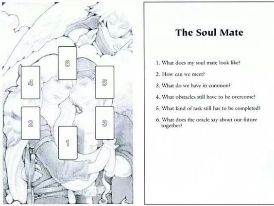The soul mate layout - tarot card spread for love and relationships