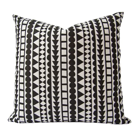Tribal Cushion (black)- African Designed from online store Safari Fusion