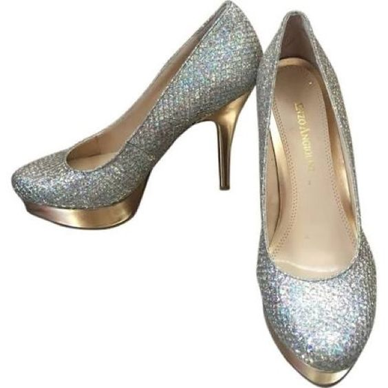 Enzo Angiolini sparkle pumps silver/gold Like new - Barely worn beautiful pump! Enzo Angiolini Shoes Platforms