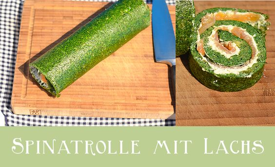 Sarahs Krisenherd: Low Carb Spinatrolle mit Lachs