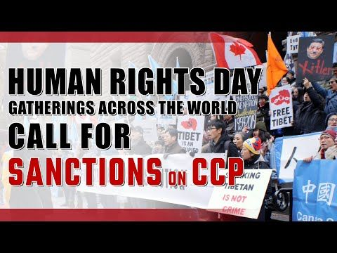 Human Rights Day Gatherings Across The World Call For Sanctions On Ccp Human Rights Day Worship Songs Christian Life