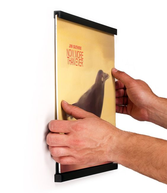 Amazon.com - Records On Walls: Vinyl Record Frame - Black - Vinyl Display