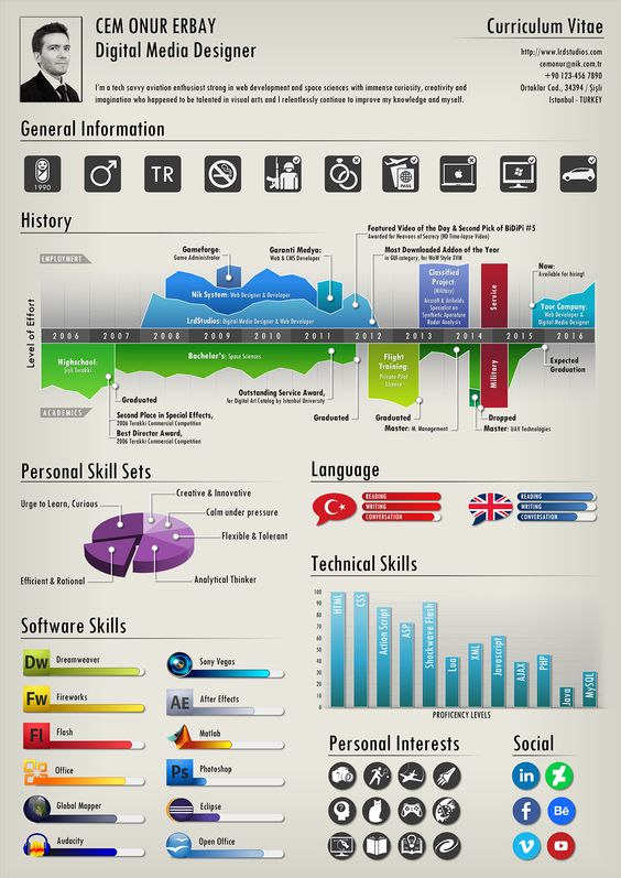 Infographic Resume of C. Onur Erbay on Behance | Infographic ...