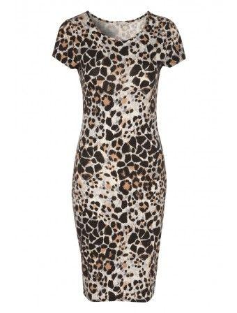 Womens Printed Midi Dress