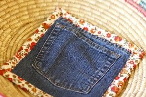 Hot mitt out of old jeans mini tutorial