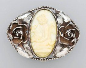 Fur-clip with ivory, german approx. 1920