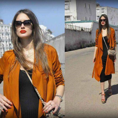 Zara-2015-Collection-naranja-quemado-Loose-fit-Gabardina-Talla-M