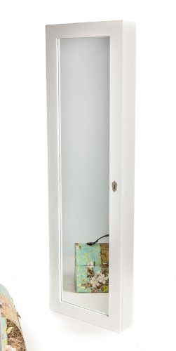 Locking Jewelry Organizer Wall Mount or Hanging Over the Door