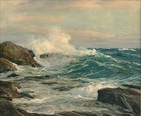 Frederick Judd Waugh 1861 1940 was an American artist, best known as a marine artist.: