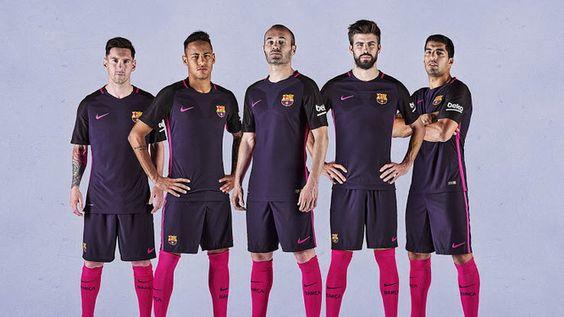 Ceci est le nouveau Maillot de foot Barcelone pas cher Exterieur pour la saison 2016/2017;:
