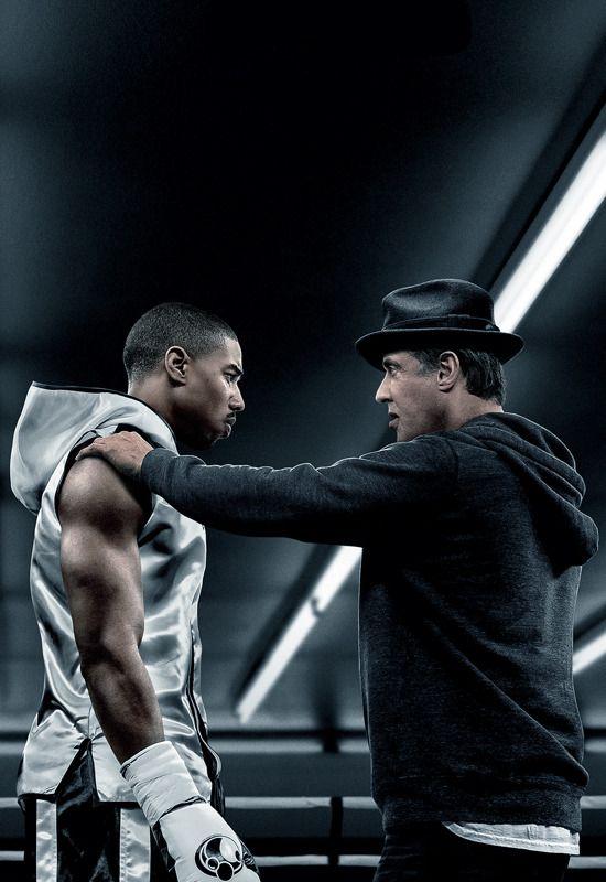 Michael B Jordan Sylvester Stallone Creed 2015 In