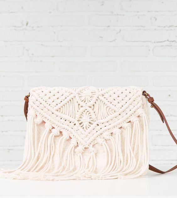 BOLSO MACRAMÉ - Handbags (macrame rather than crochet)