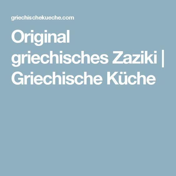 Original griechisches Zaziki | Griechische Küche