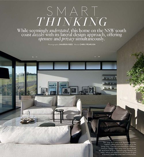 Belle Magazine covers Poliform Camilla armchairs in coastal home ...