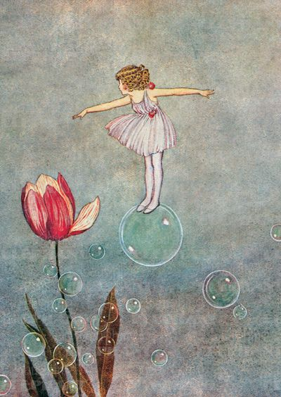"Ida Rentoul Outhwaite ""Bubble Fairy with Tulip"" (wings must be tucked):"