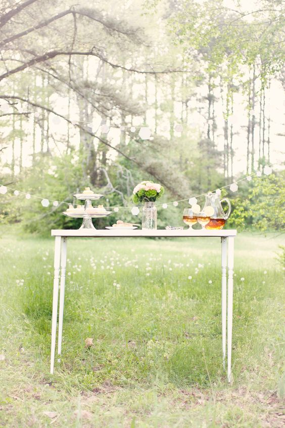 {honeycomb themed table}