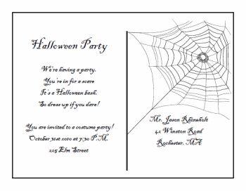 Free Printable Halloween Invitation Templates Postcard Invitations